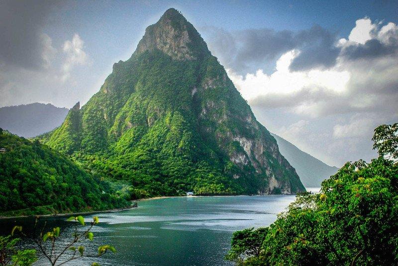 Caribbean Island St Lucia Volcano