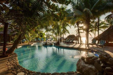 Eco-friendly resort san pedro belize island suite Pool beach view sunset
