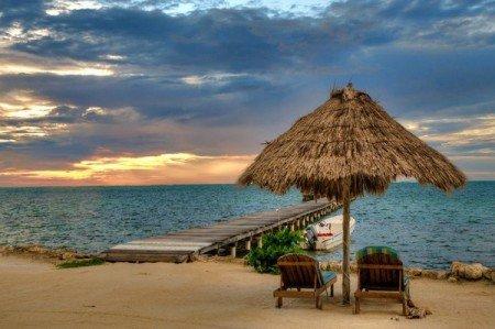 San Pedro Island Resort Belize Beach Sand Sunset