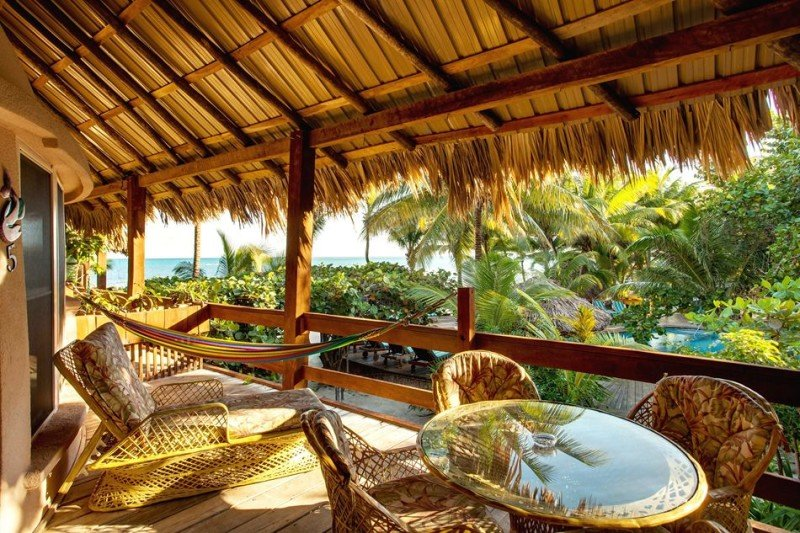 Eco-friendly resort san pedro belize island suite Beach ocean view