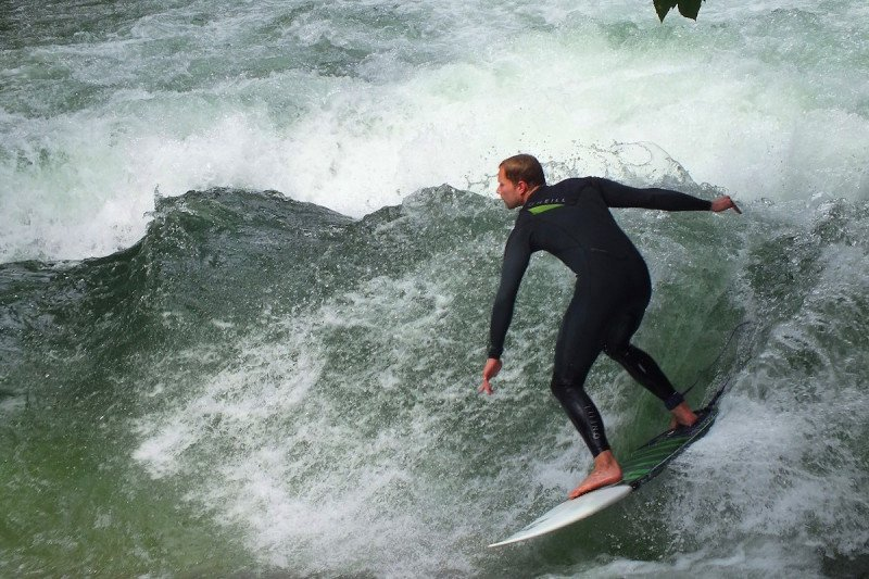 Munich, Outdoor, Adventure, Europe, Surfing, River, Surf, Wetsuit, Winter, Cold