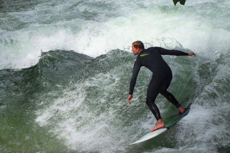 Munich, Outdoor, Adventure, Europe, Surfing, River, Surf, Wetsuit, Winter, Cold