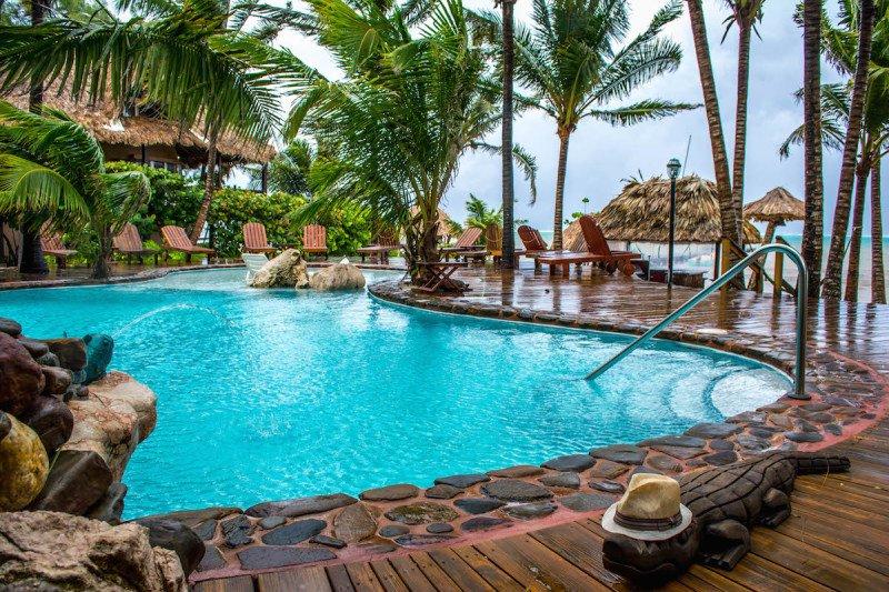 Eco-friendly resort san pedro belize island suite Pool ocean view