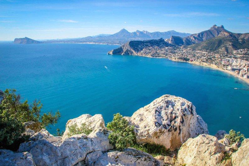 Alicante Spain Beaches Overlook Ocean Beach
