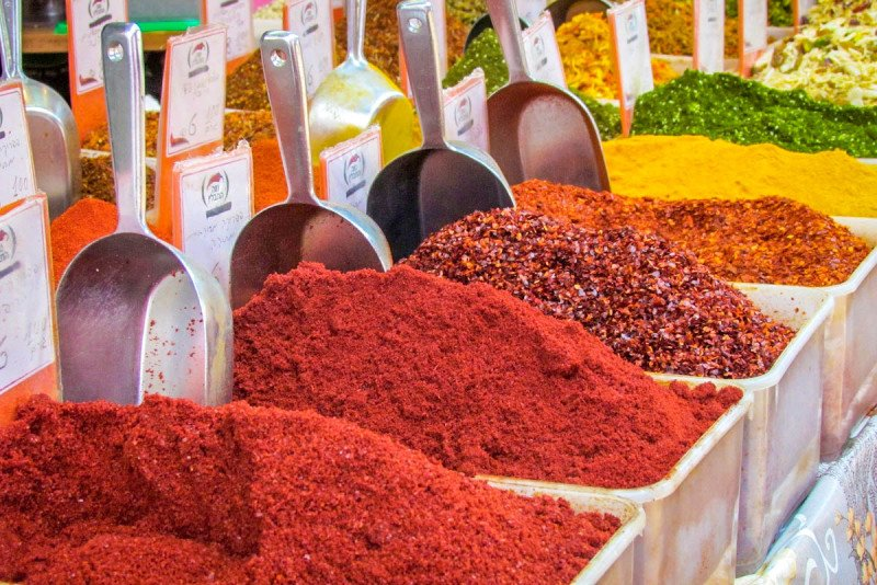 Spices Jerusalem Market Palestine Middle East Food Cuisine