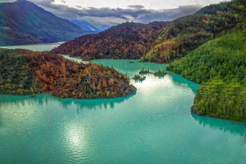 helicopter, tour, charter, aerial, tours, adventure time, adventure, geography, aerial view, mountain, lake, river, turquoise