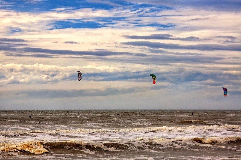 Kitesurfing Maui Ocean Sea
