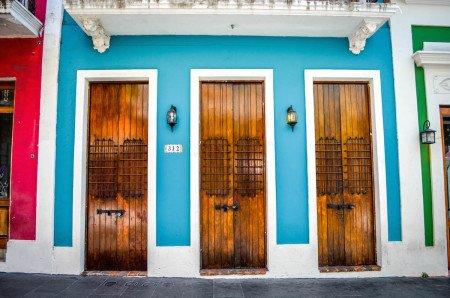 Old San Juan Puerto Rico Streets Doors Caribbean