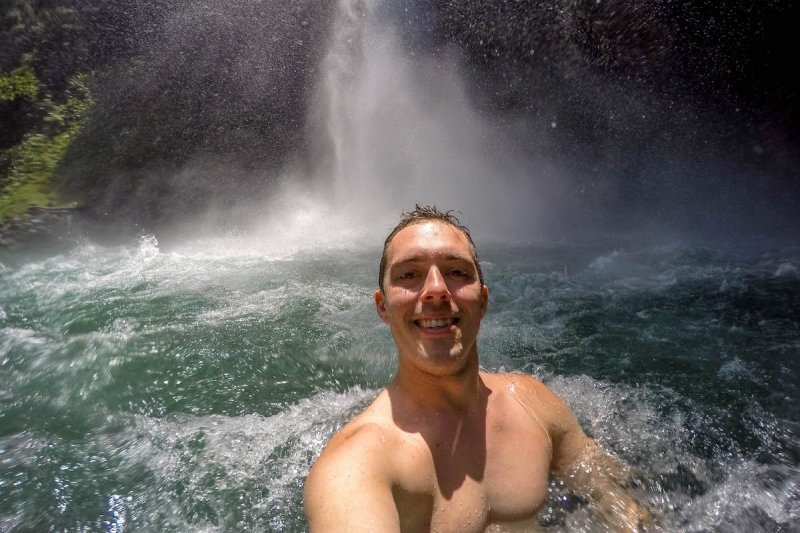 Swimming at La Fortuna Waterfall Natural Attraction