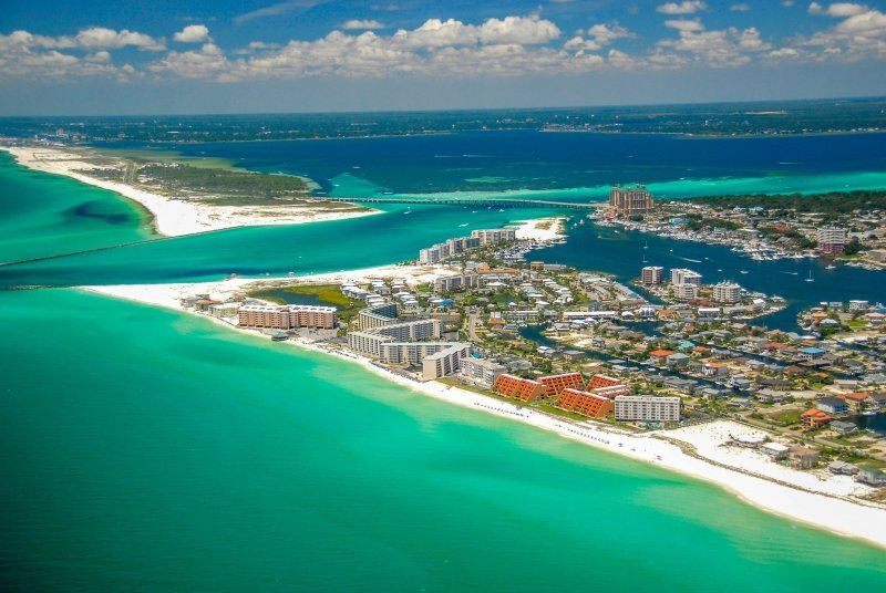 Destin Florida Helicopter Tours Beach Aerial
