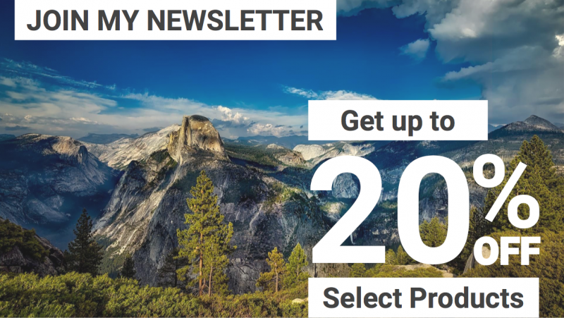 Free travel newsletter for discounted gear