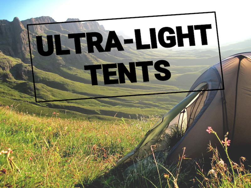 Ultralight backpacking tents and adventure tents
