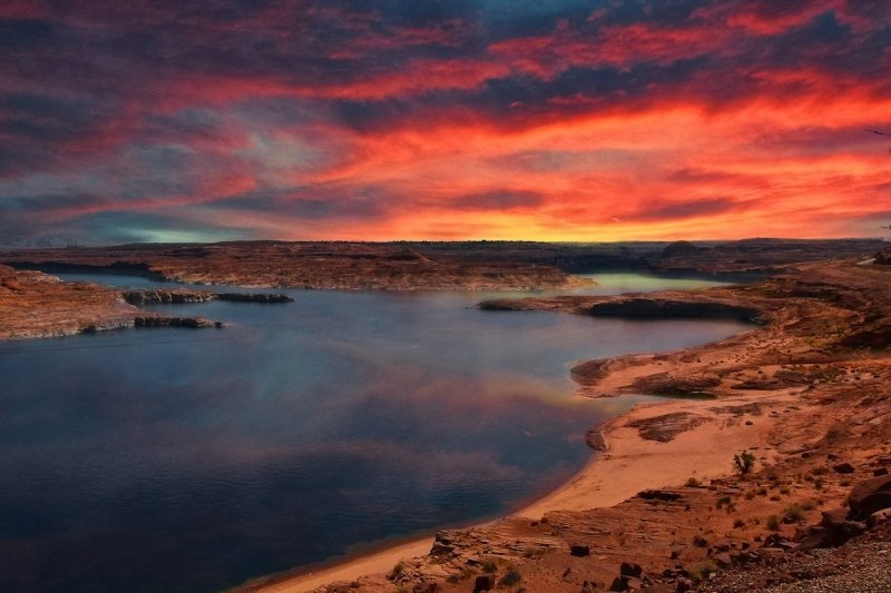 Lake Powell Sunset Paddle Boarding